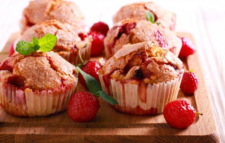 Erdbeermuffins mit Öl