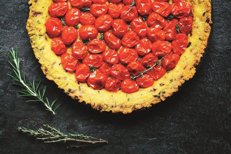 Polenta-Tomaten-Kuchen