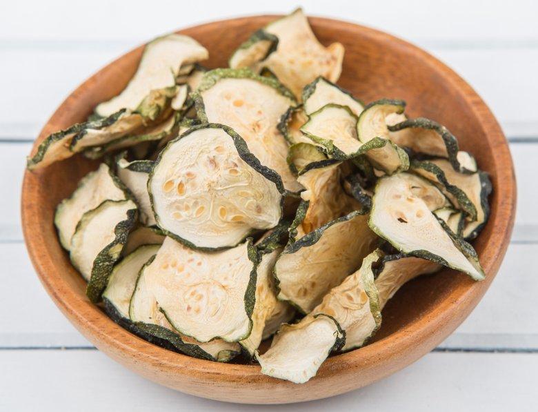 Rohkost Zucchini-Chips