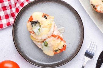 Hühnchen überbacken mit Mozzarella