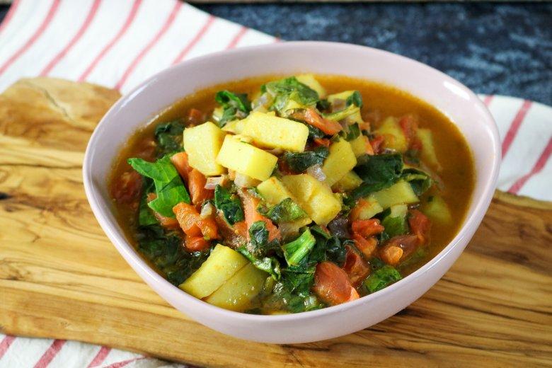 Kartoffel-Spinat-Curry