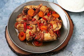 Huhn mit Cognacsauce