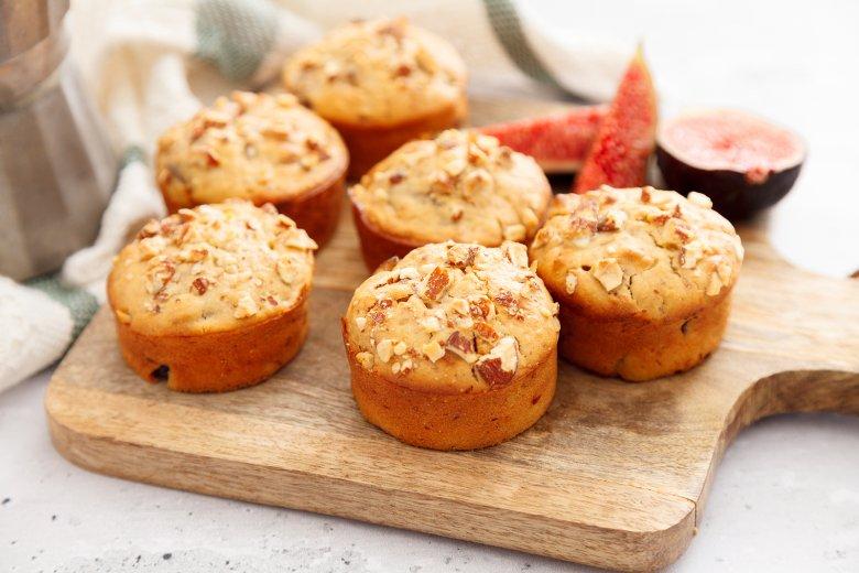 Feigen-Muffins mit Mandeln