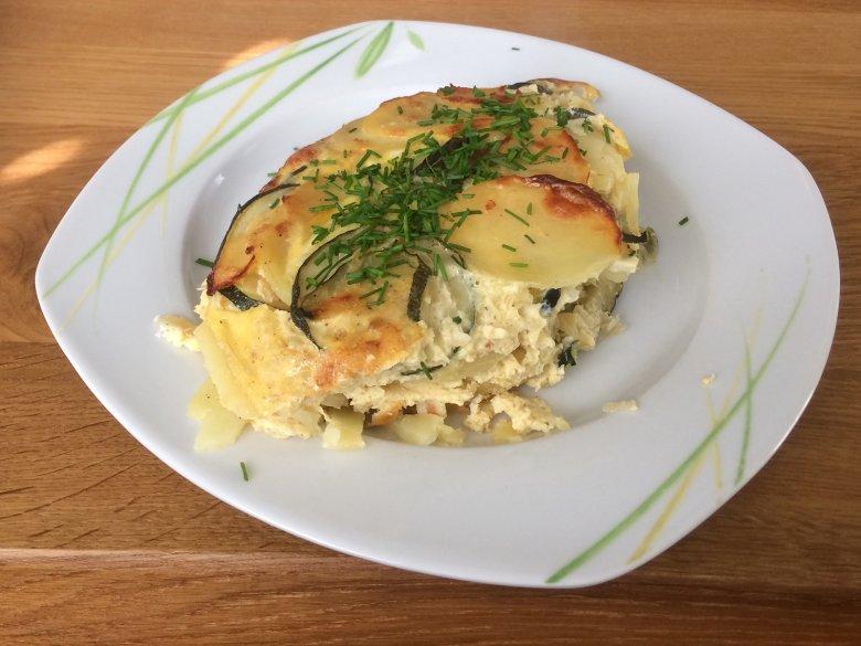 Zucchini-Kartoffelauflauf