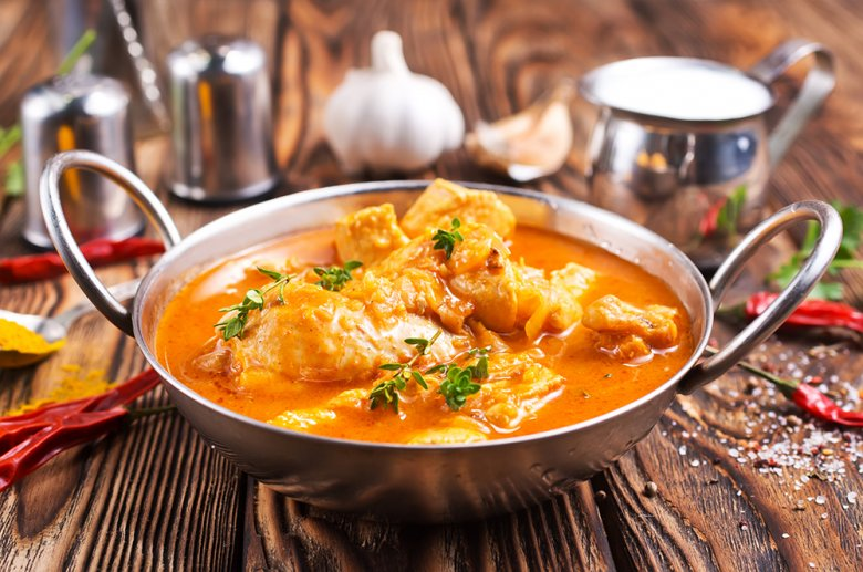 Hühnerfilets mit Curry-Rahmsauce
