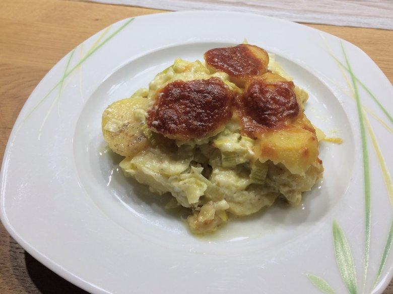 Kartoffelauflauf mit Käse