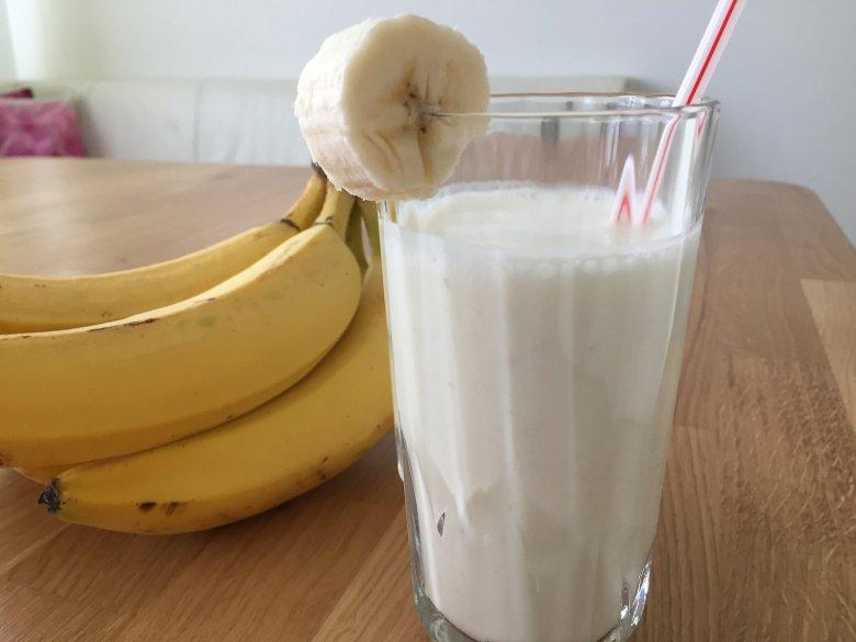 Bananenmilch mit Reismilch
