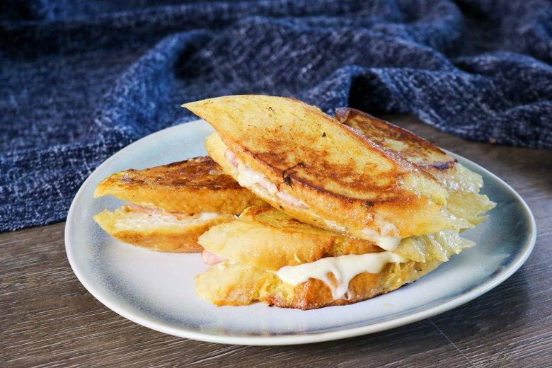 French Toast mit Schinken-Käsefüllung