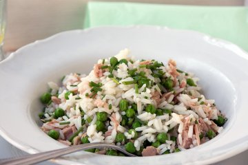 Reispfanne mit Thunfisch