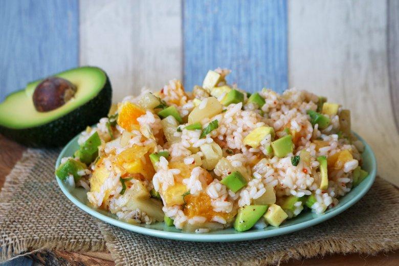 Fruchtiger Reissalat