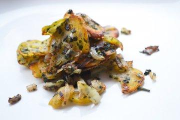 Kartoffelschmarren mit Bärlauch