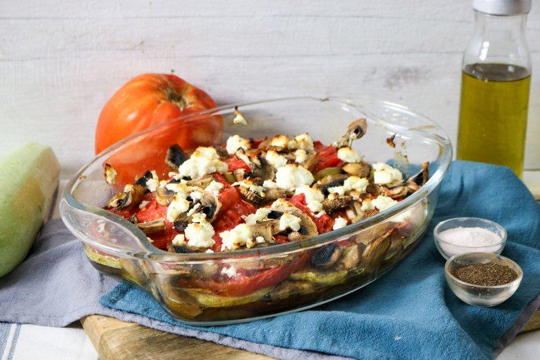 Gemüseauflauf mit Feta