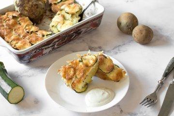 Kartoffeln mit Zucchini überbacken