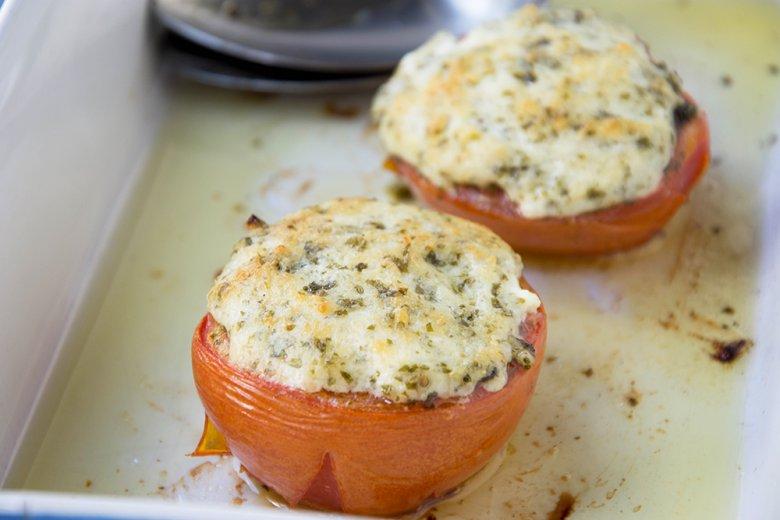 Tomaten mit Schafskäse