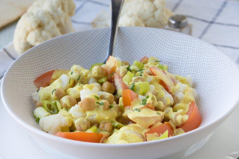 Blumenkohlsalat mit Curry