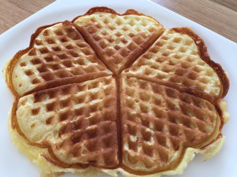 Einfache Waffeln ohne Butter