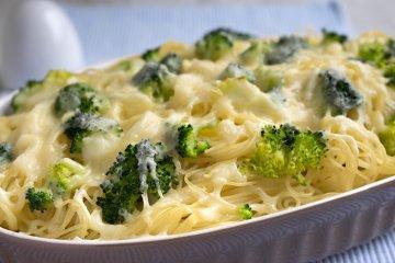 Spaghetti Auflauf mit Brokkoli