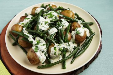 Grüne Bohnen mit Kartoffeln