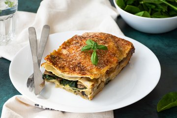 Spinat Lasagne mit Basilikum