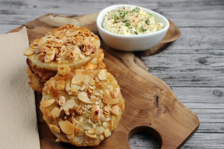 Kohlrabi-Schnitzel mit Mandeln