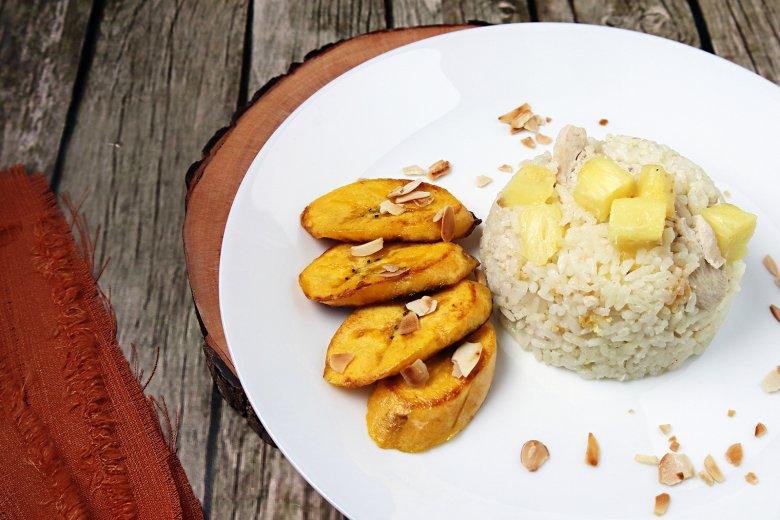 Curryreis mit Früchten
