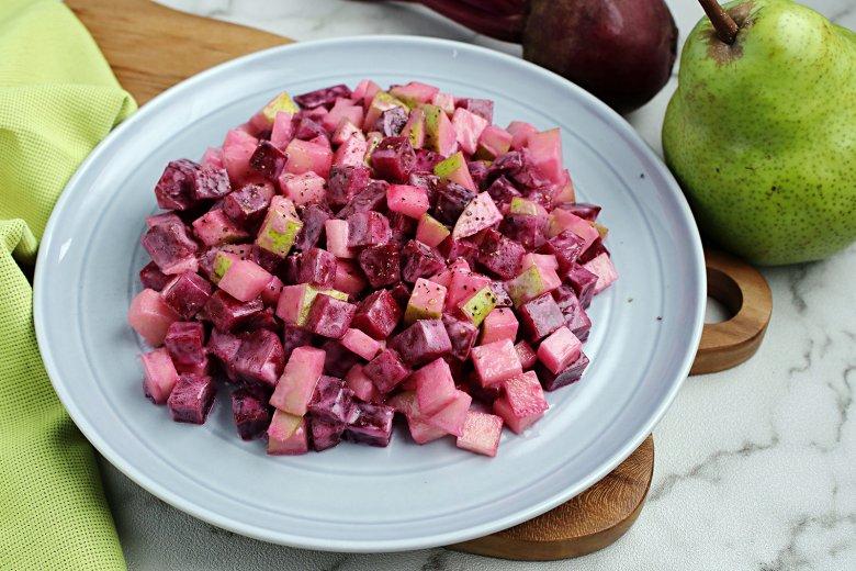 Rote Bete Salat mit Birne