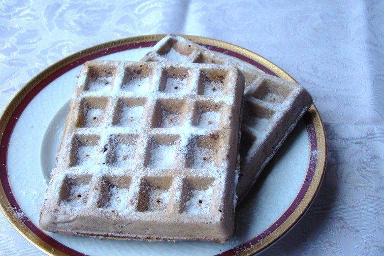 Schoko-Vanille-Waffeln