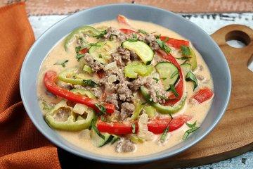 Paprika-Curry mit Kokosmilch