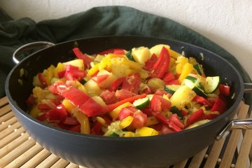 Zucchini-Paprika-Pfanne