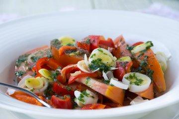 Paprika-Tomaten-Salat