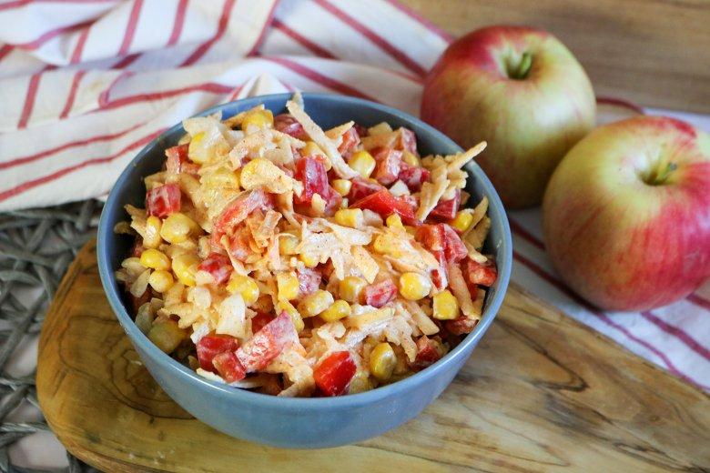 Paprika-Salat mit Mais