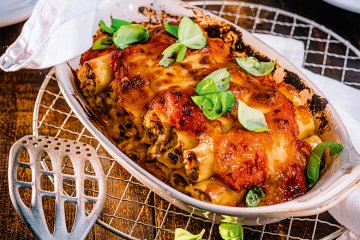 Gratinierte Pilz-Cannelloni