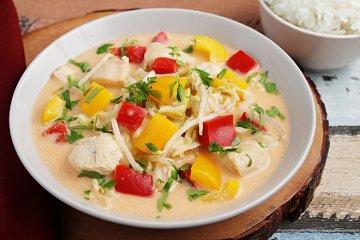 Hähnchen-Curry mit Koriander