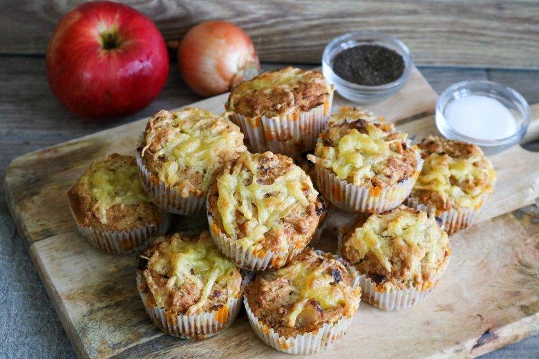 Apfel-Lauch-Muffins
