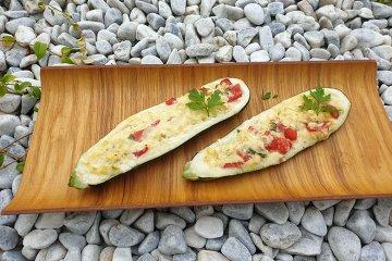 Gegrillte Zucchini mit Feta