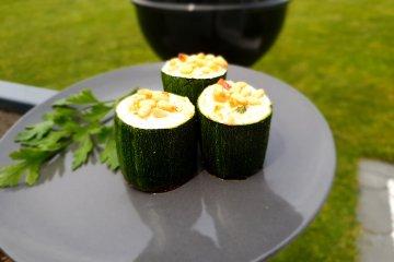 Gegrillte Zucchini Häppchen
