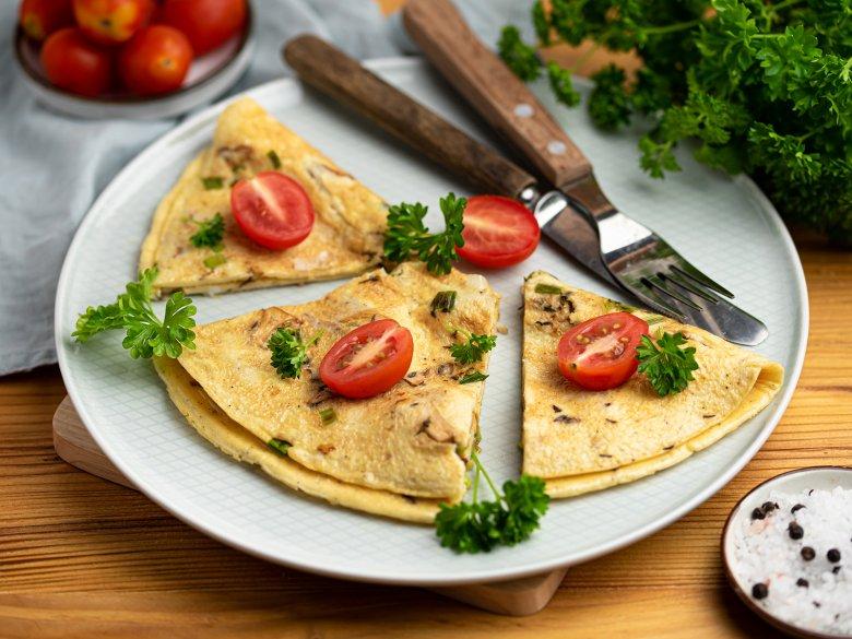 Eier-Omelett mit Pfifferlingen