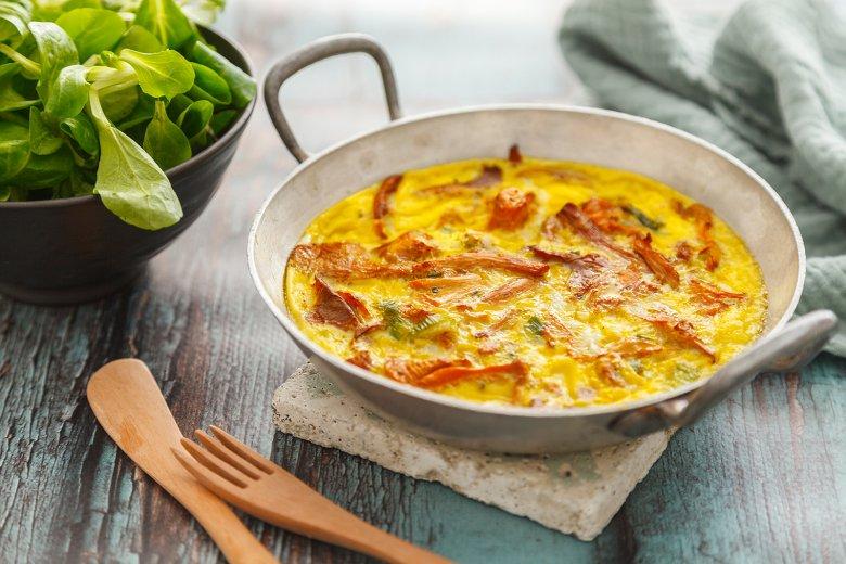 Einfaches Omelette mit Pfifferlinge