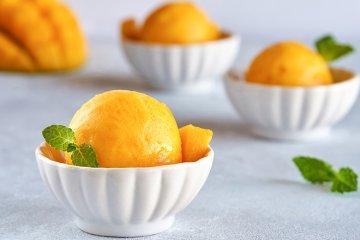 Zuckerfreies Mangosorbet