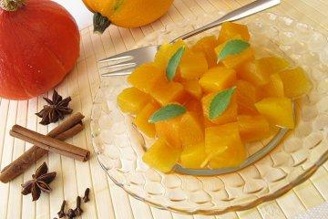 Kürbiskompott süß-sauer