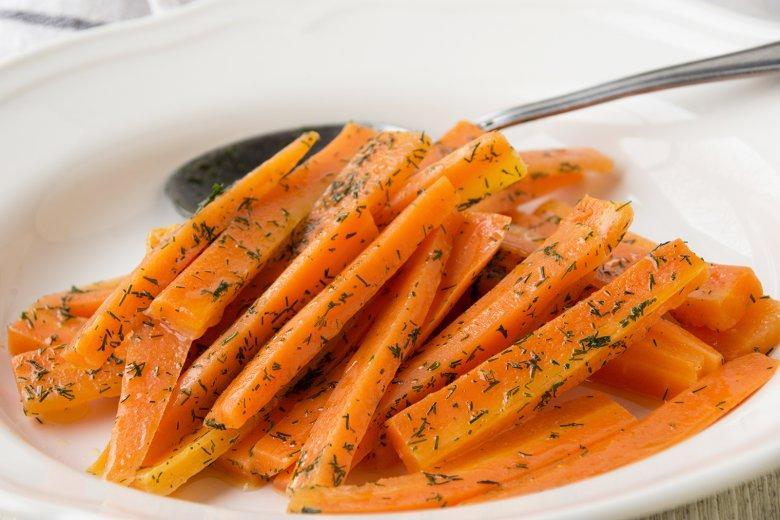 Geschmorte Karotten