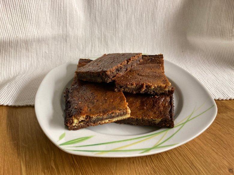 Marmor-Käsekuchen-Brownies