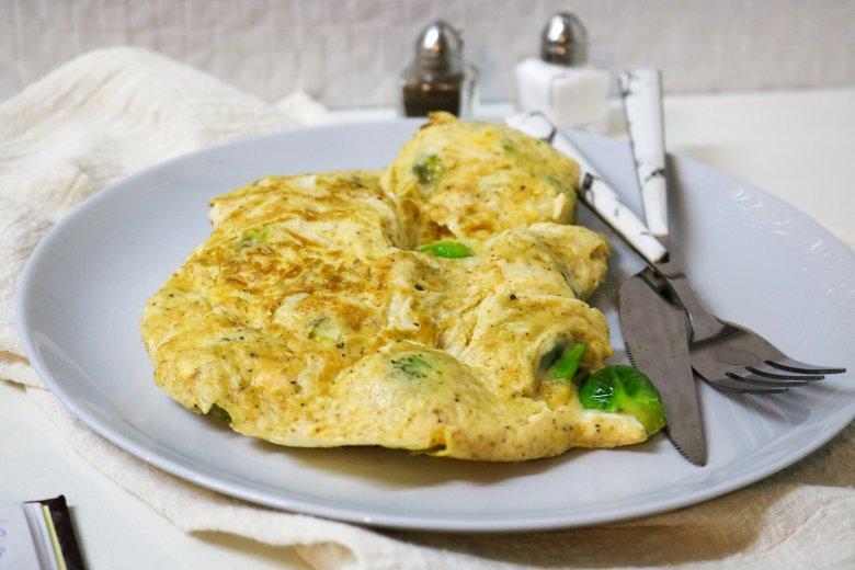 Rosenkohl-Feta-Omelett