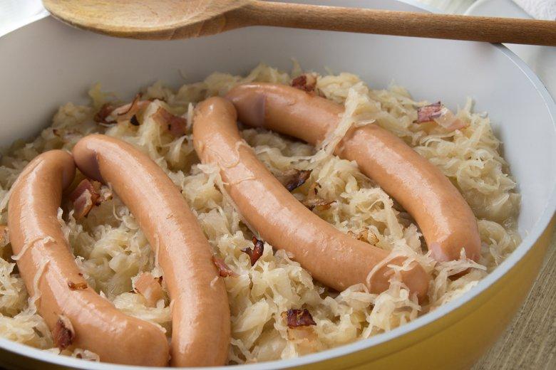 Südtiroler Sauerkraut mit Würstchen