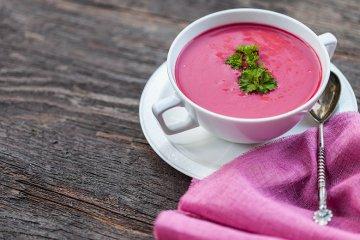 Rote Rüben Suppe mit Ingwer