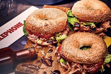 Pulled Pork Bagel New York Style