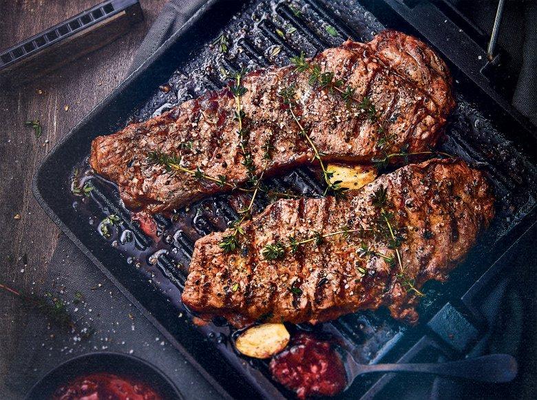 Gegrilltes T-Bone Steak mit Barbecuesauce