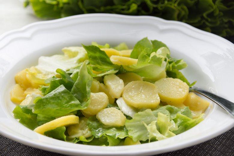Endiviensalat mit Kartoffeln