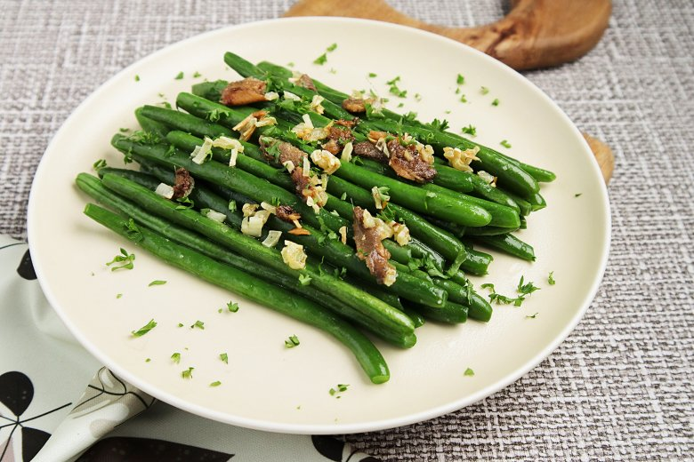 Grüne Bohnen mit Sardellen