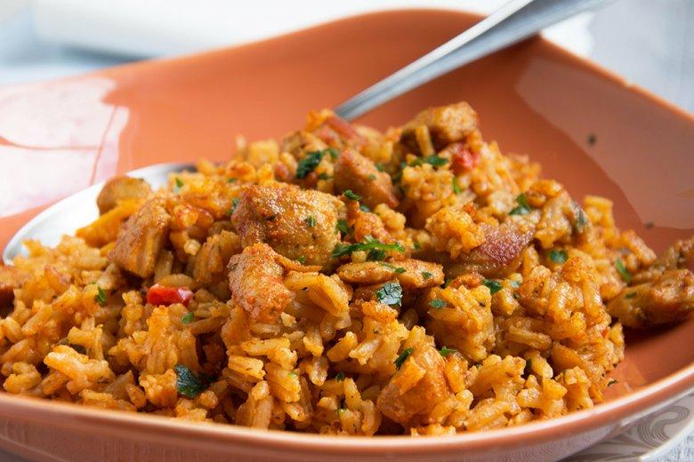Scharfes Reisfleisch